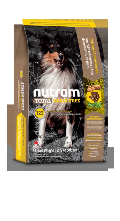 T23 Nutram Grain Free Hond Kalkoen, Kip&Eend 11,34kg
