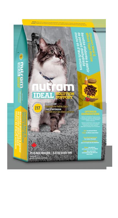 Nutram Indoor shedding (kieskeurige) cat 6,8kg
