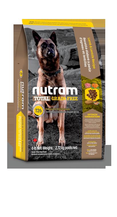 T26 Nutram Grain Free Hond Lam 11,34kg