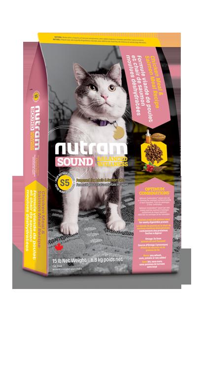 S5 Nutram Sound Adult and Senior Natural Cat 6,8kg