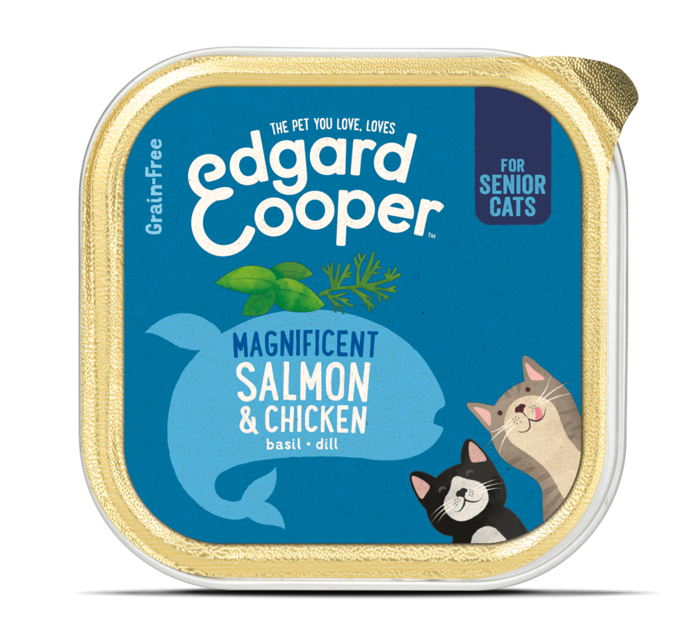 Edgard&Cooper Kip en Zalm 85g