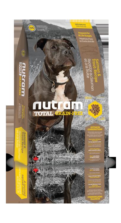 T25 Nutram Grain Free Hond Zalm en Forel 13,6 kg