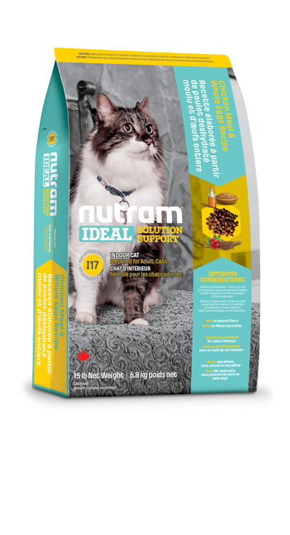 Nutram Indoor shedding (kieskeurige) cat 6,8kg