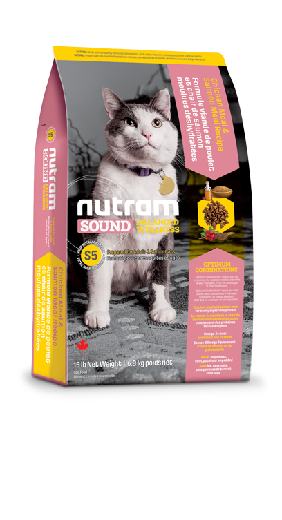 S5 Nutram Sound Adult and Senior Natural Cat 6,8kg